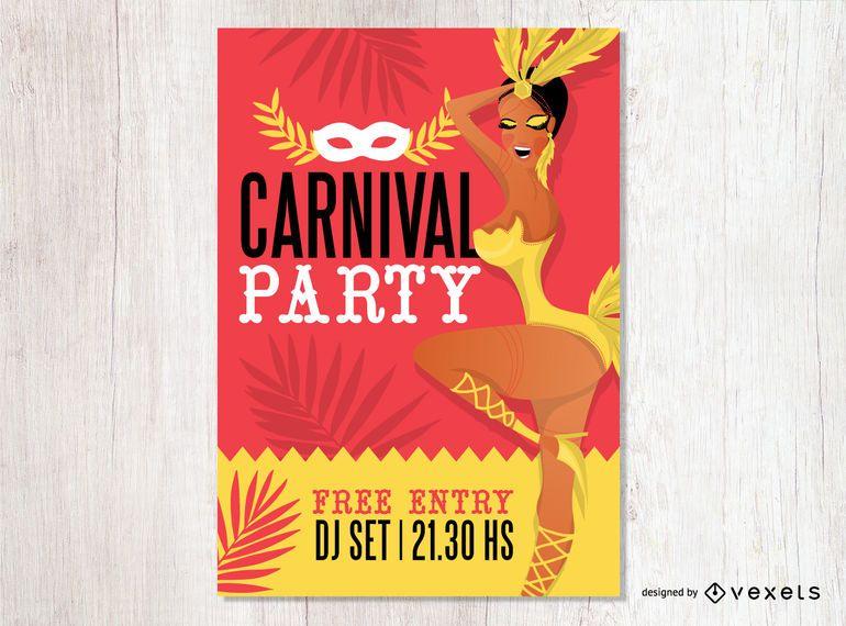 Projeto de panfleto de festa de carnaval