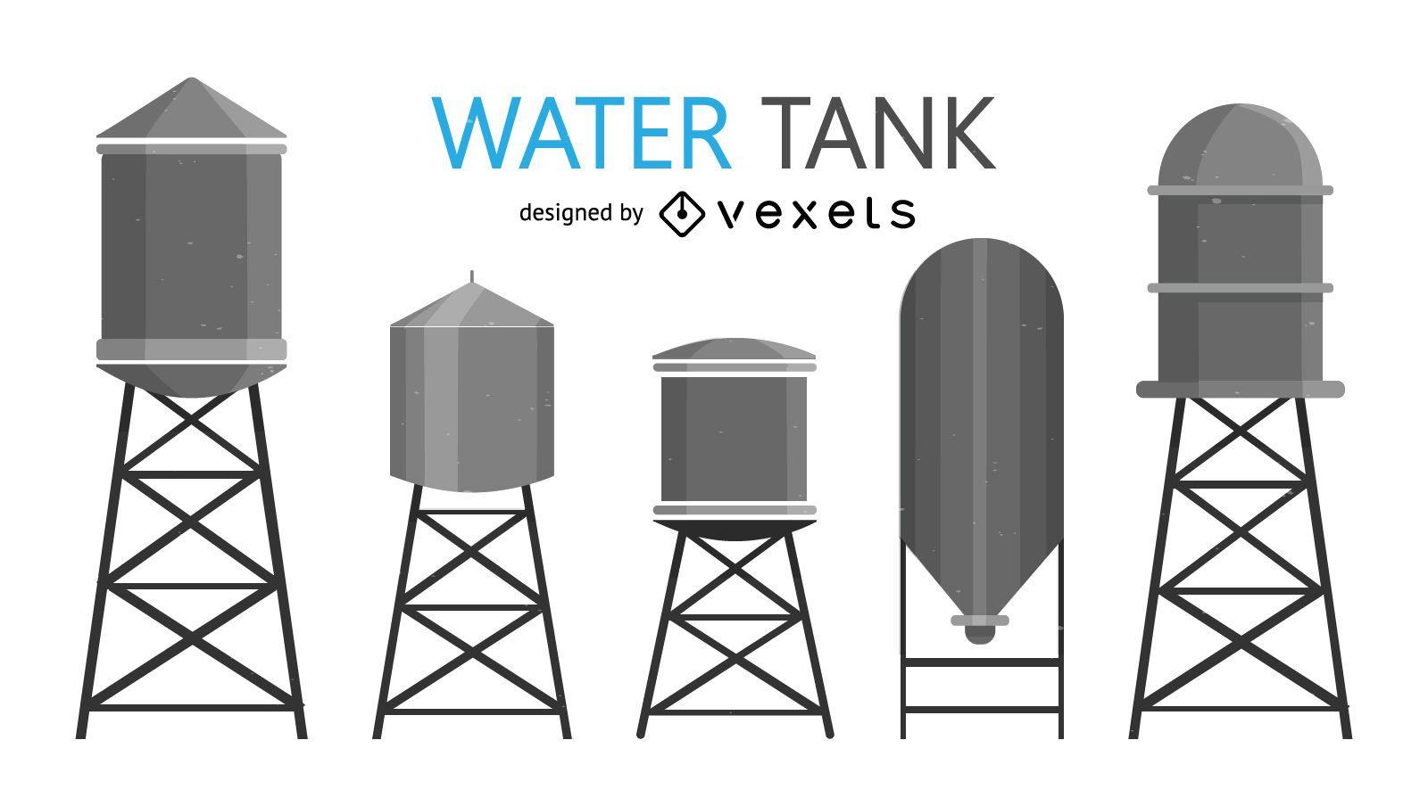 Ilustraciones de tanque de agua