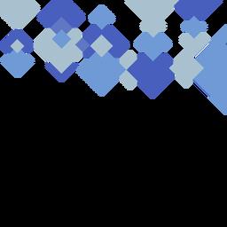 Fundo quadrado azul abstrato