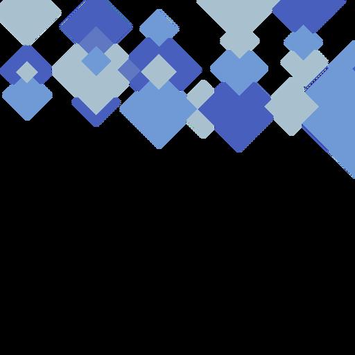 Fundo quadrado azul abstrato Transparent PNG