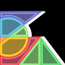 Fondo de formas de gráfico abstracto