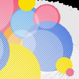 Fondo abstracto elementos circulares