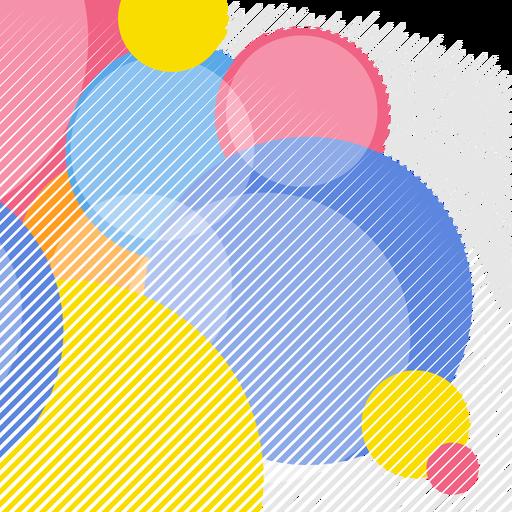 Fondo abstracto elementos circulares Transparent PNG