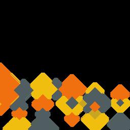 Fundo quadrado laranja abstrato