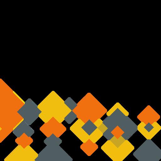 Fundo quadrado laranja abstrato Transparent PNG