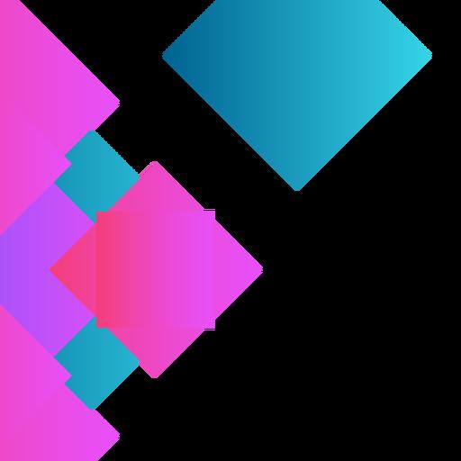 Fondo cuadrado púrpura abstracto Transparent PNG