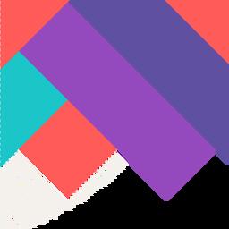 Fundo quadrado colorido abstrato