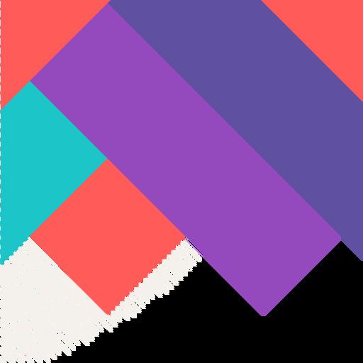 Fondo cuadrado colorido abstracto Transparent PNG