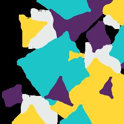 Triângulo abstrato e fundo quadrado
