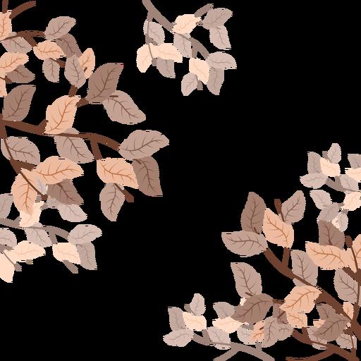 Autumn Leaves Background Frame Transparent PNG