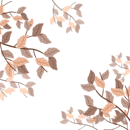 Marco de fondo de hojas de oto?o