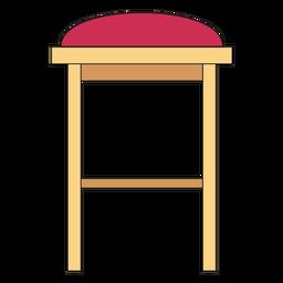 Dibujos animados de taburete de bar