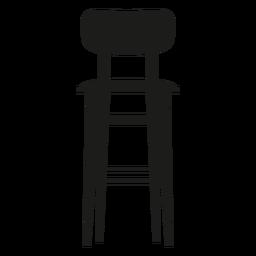 Taburete de bar con respaldo plano icono