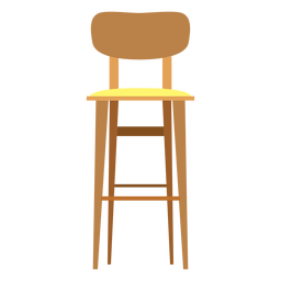 Bar stool with backrest icon