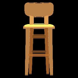 Taburete de bar con icono de respaldo