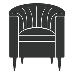 Barrel chair black icon