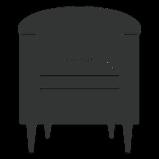 Barrel chair black icon Transparent PNG
