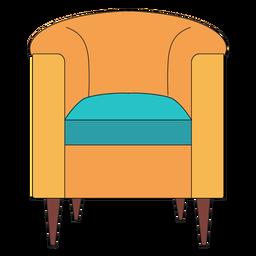 Dibujos animados de silla barril