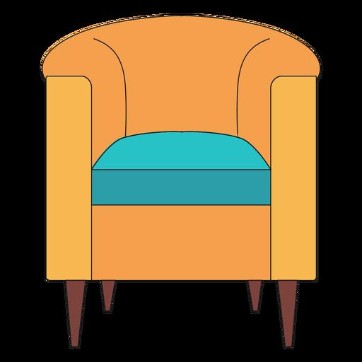 Barrel chair cartoon Transparent PNG