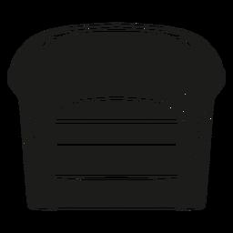 Icono plano de la silla de barril