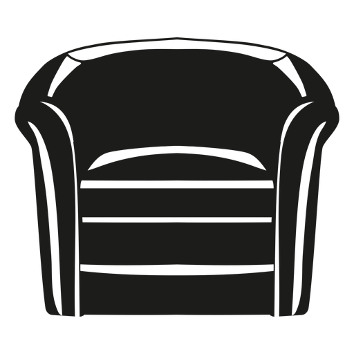 Barrel chair flat icon Transparent PNG