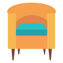 Barrel chair icon