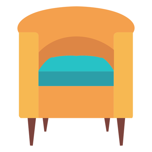 Barrel chair icon Transparent PNG