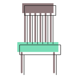 Basic chair icon