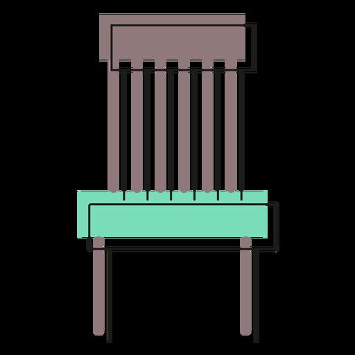 Ícone cadeira básica Transparent PNG