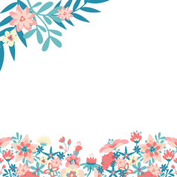 Blue pink flowers background