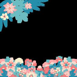 Fondo de flores rosadas azules