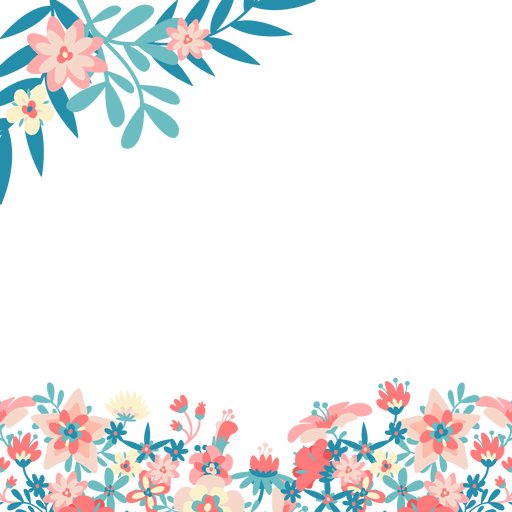 Blue pink flowers background Transparent PNG