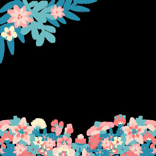 Fondo de flores de color rosa azul Transparent PNG