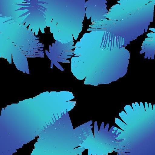 Fundo De Folhas Tropicais Azuis Baixar Pngsvg Transparente