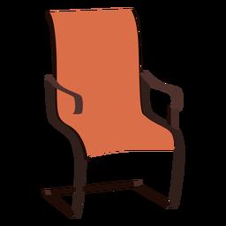 Dibujos animados de silla voladiza