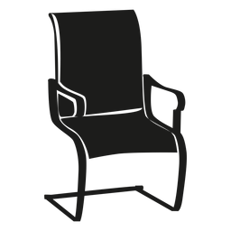 Cantilever chair flat icon