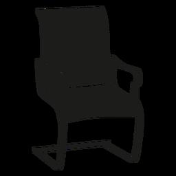 Icono plano de silla voladiza