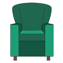 Club chair cartoon