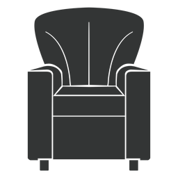Club chair flat icon