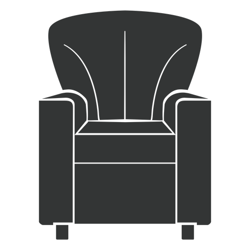 Club chair flat icon Transparent PNG