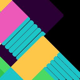 Fundo geométrico abstrato colorido