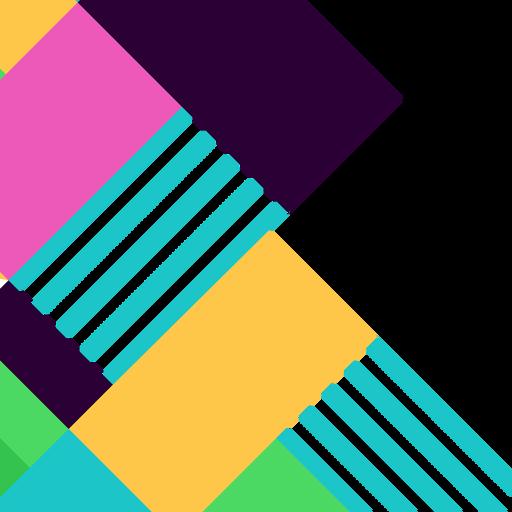 Fundo geométrico abstrato colorido Transparent PNG