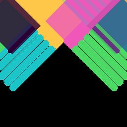 Vector de fondo geométrico abstracto colorido