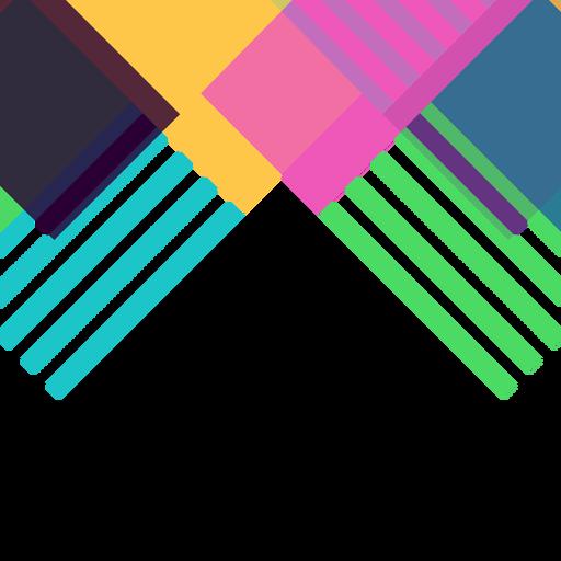 Vector de fondo geom?trico abstracto colorido