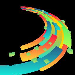 Fondo de rectángulo abstracto colorido