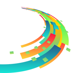 Fundo retangular abstrato colorido