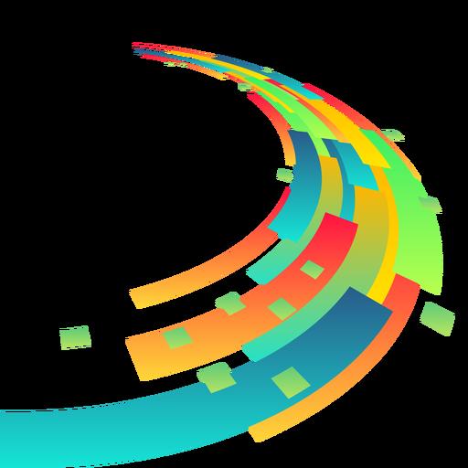 Fondo colorido rectángulo abstracto Transparent PNG