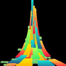 Bunter abstrakter Rechteckhintergrundvektor