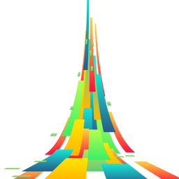 Vetor de fundo colorido retângulo abstrato