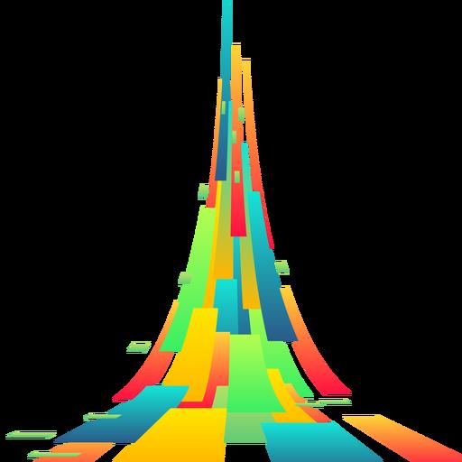 Vetor de fundo abstrato retangular colorido Transparent PNG